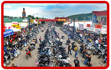 Laconia Bikeweek Vendor space.